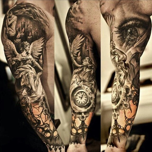 Black And White Tiger Tattoo Sleeve Black And White Tattoos For