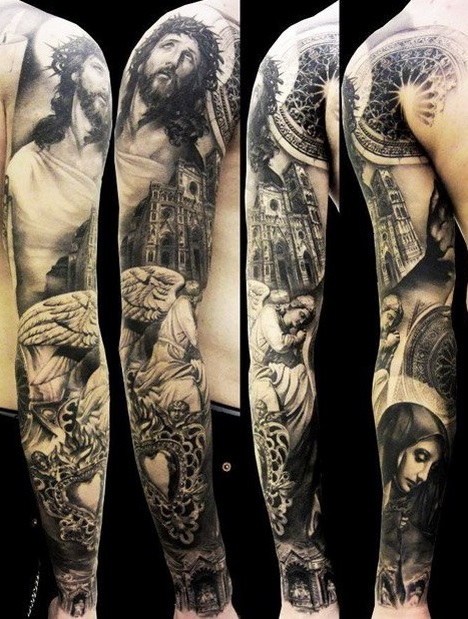 Octopus Tattoo Sleeve Black And White Black And White Tattoos For