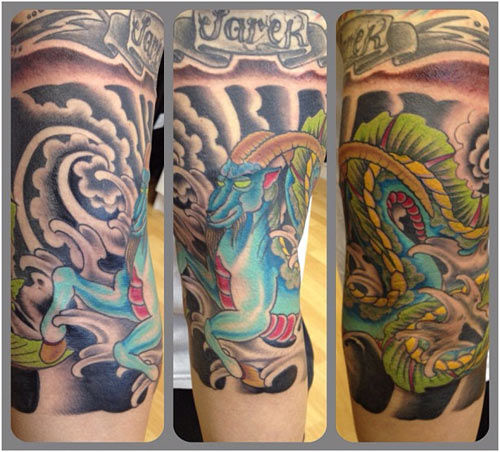 capricorn-japanese-tattoos