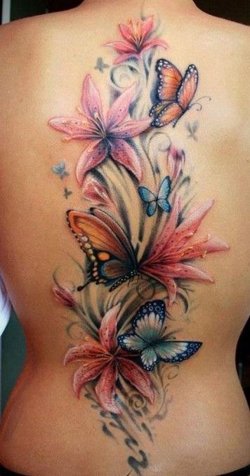 spine-butterflies-tattoos
