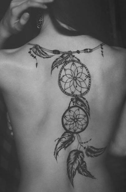 spine-dreamcatcher-tattoo