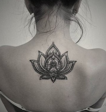spine-lotus-tattoos