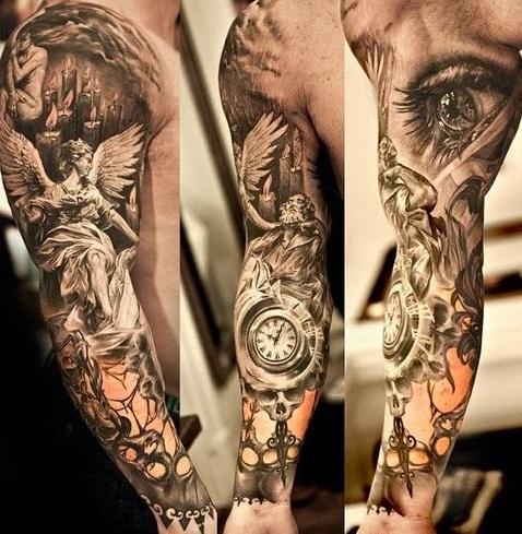 aquarius-tattoos-sleeve