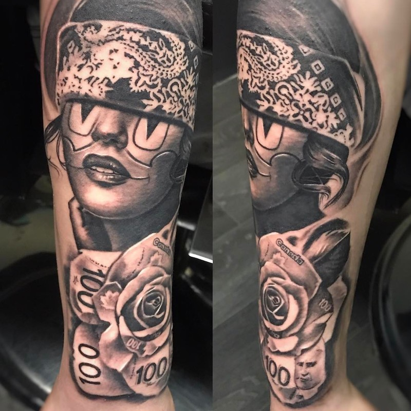 arm chicano tattoo by Sir Focus