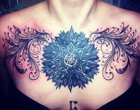 chest-tattoos-flower