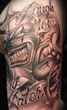 Chicano Tattoos Smile Now Cry Later
