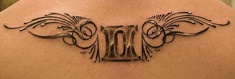 gemini-tattoos-wings