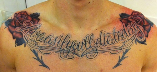 Chest tattoos tattoo insider for Collar bone tattoos guys