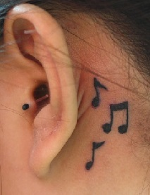 Jessie J Music Notes Treble Clef Behind Ear Tattoo Steal Her Style