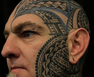 face-tattoo-polynesian