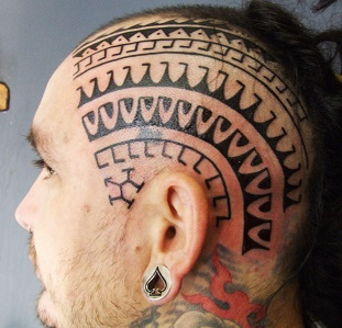 head-tattoo-pattern