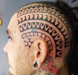 head-tattoo-pattern
