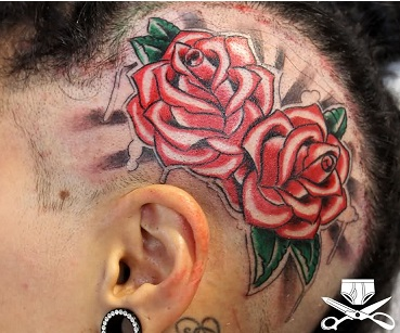 head-tattoo-roses