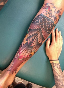 leg-tattoos-eagle