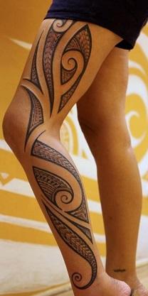 leg-tattoos-tribal-maori