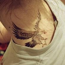 neck-tattoos-eagle