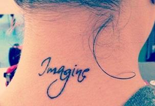 neck-tattoos-imagine-quote