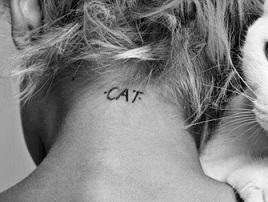neck-tattoos-women-cat