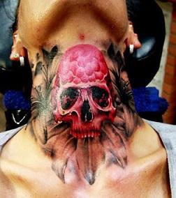 neck-tattoos-women-skull