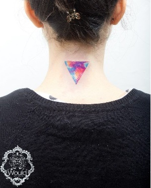 neck-tattoos-women-triangle