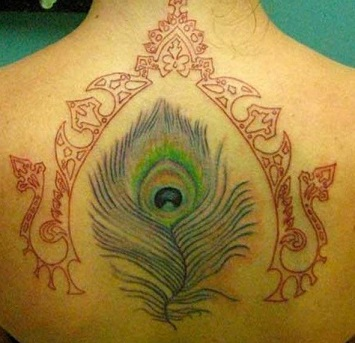 peacock-feather-tattoo-spine-back