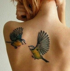 shoulder-blade-tattoos-birds