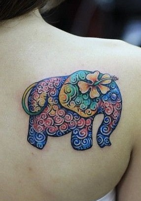 shoulder-tattoos-women-elephant