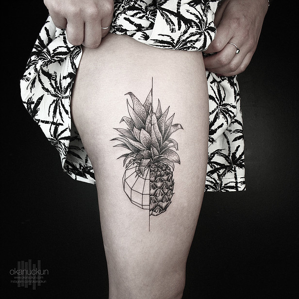 Pineapple Tattoo by Okan Uckun