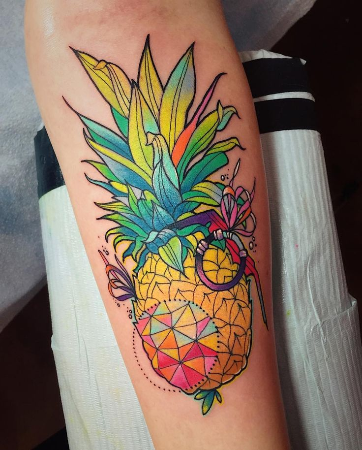 Pineapple Tattoo by Katie Shocrylas