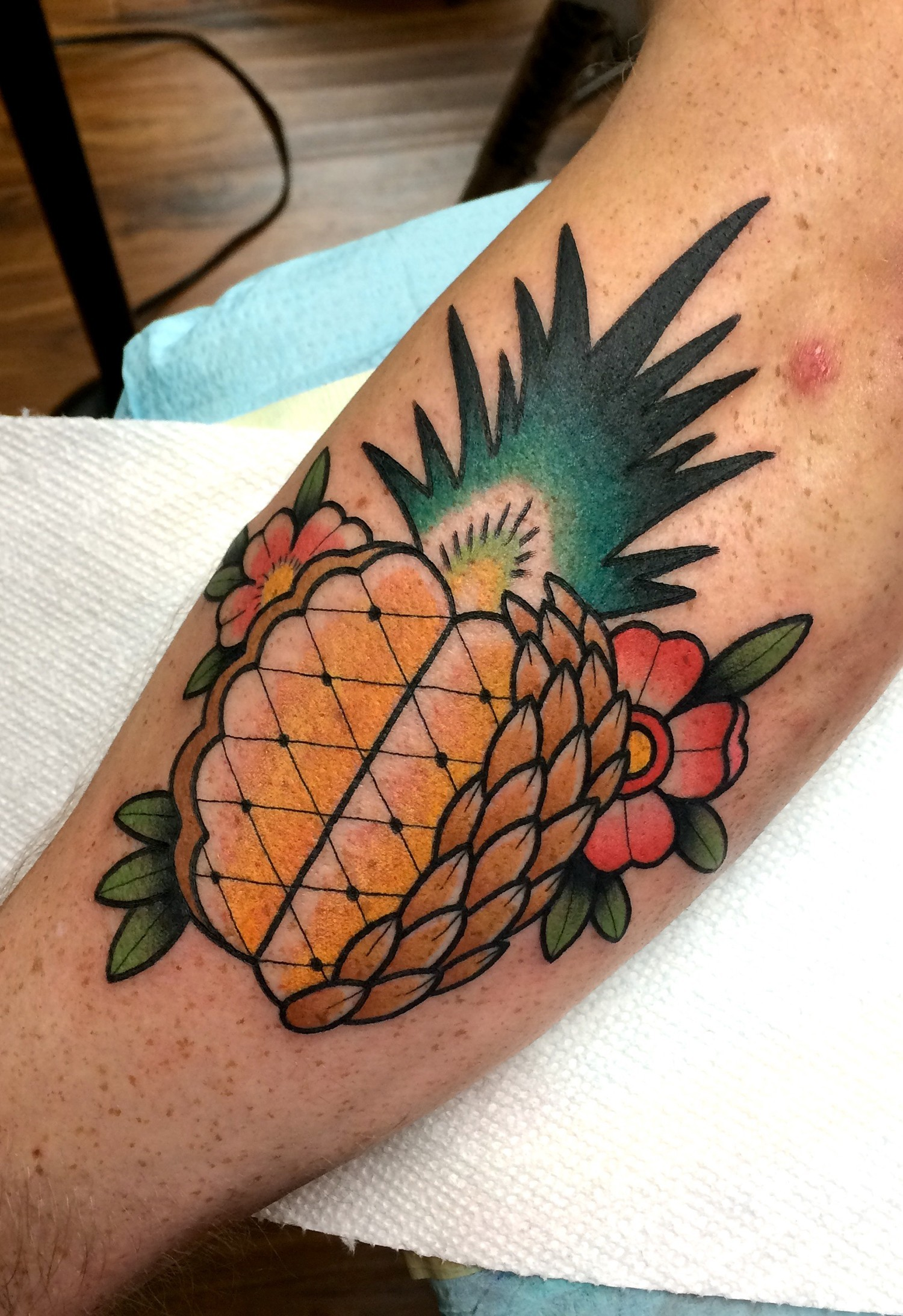 Pineapple Tattoo by Dave Wah