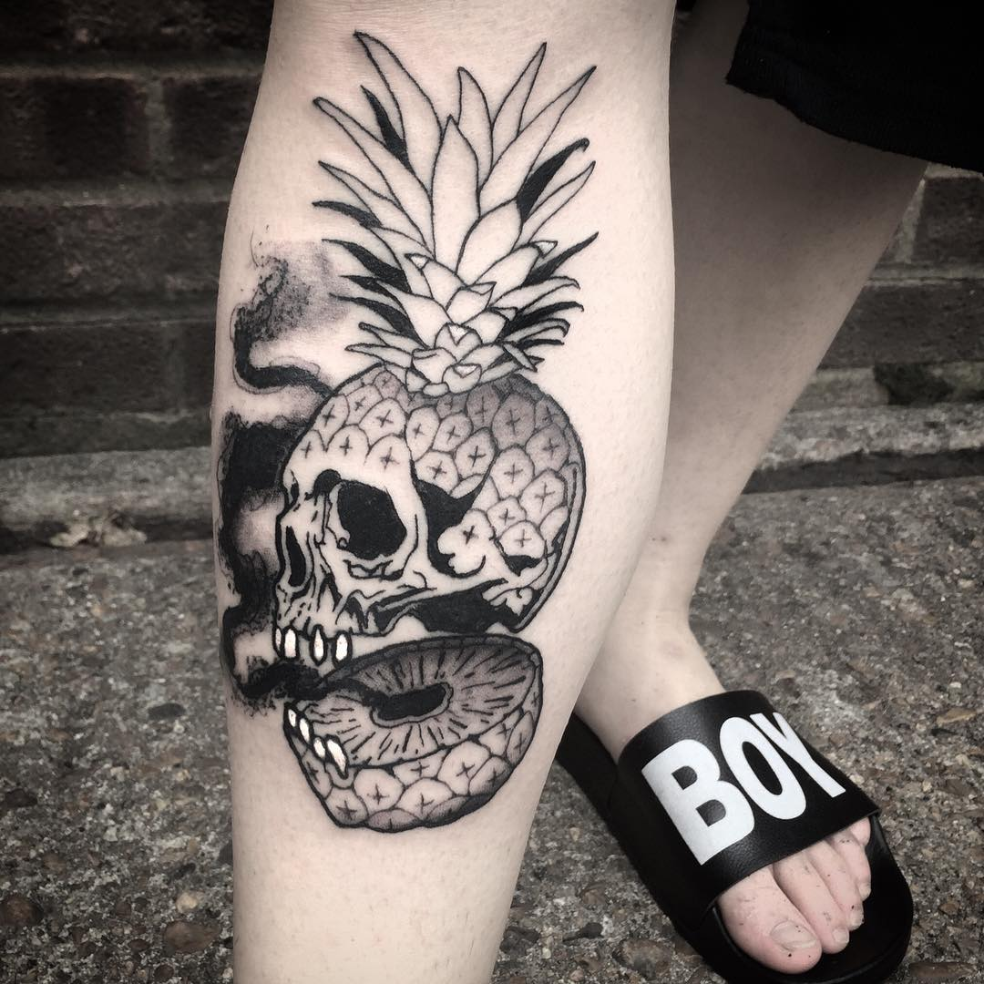 Pineapple Tattoo by Luca Degenerate