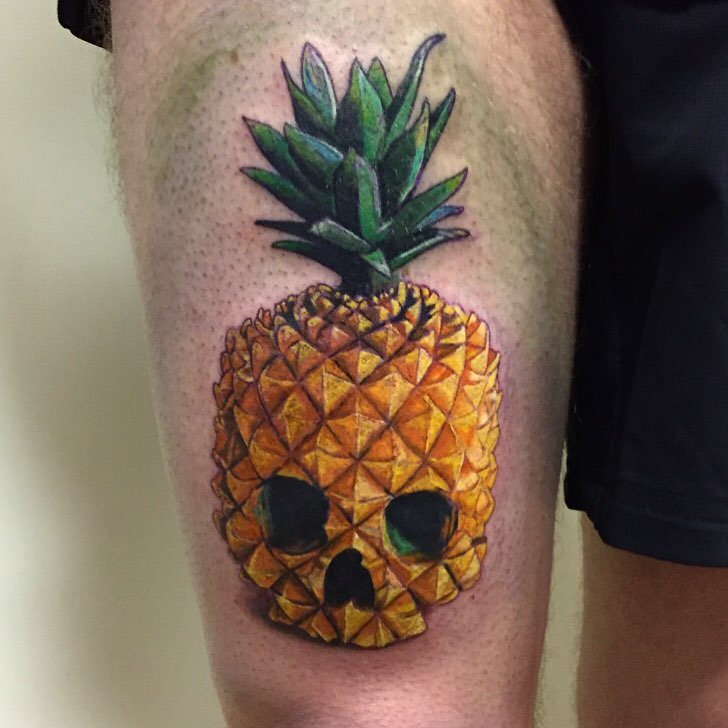 Pineapple Tattoo by Melissa Scott