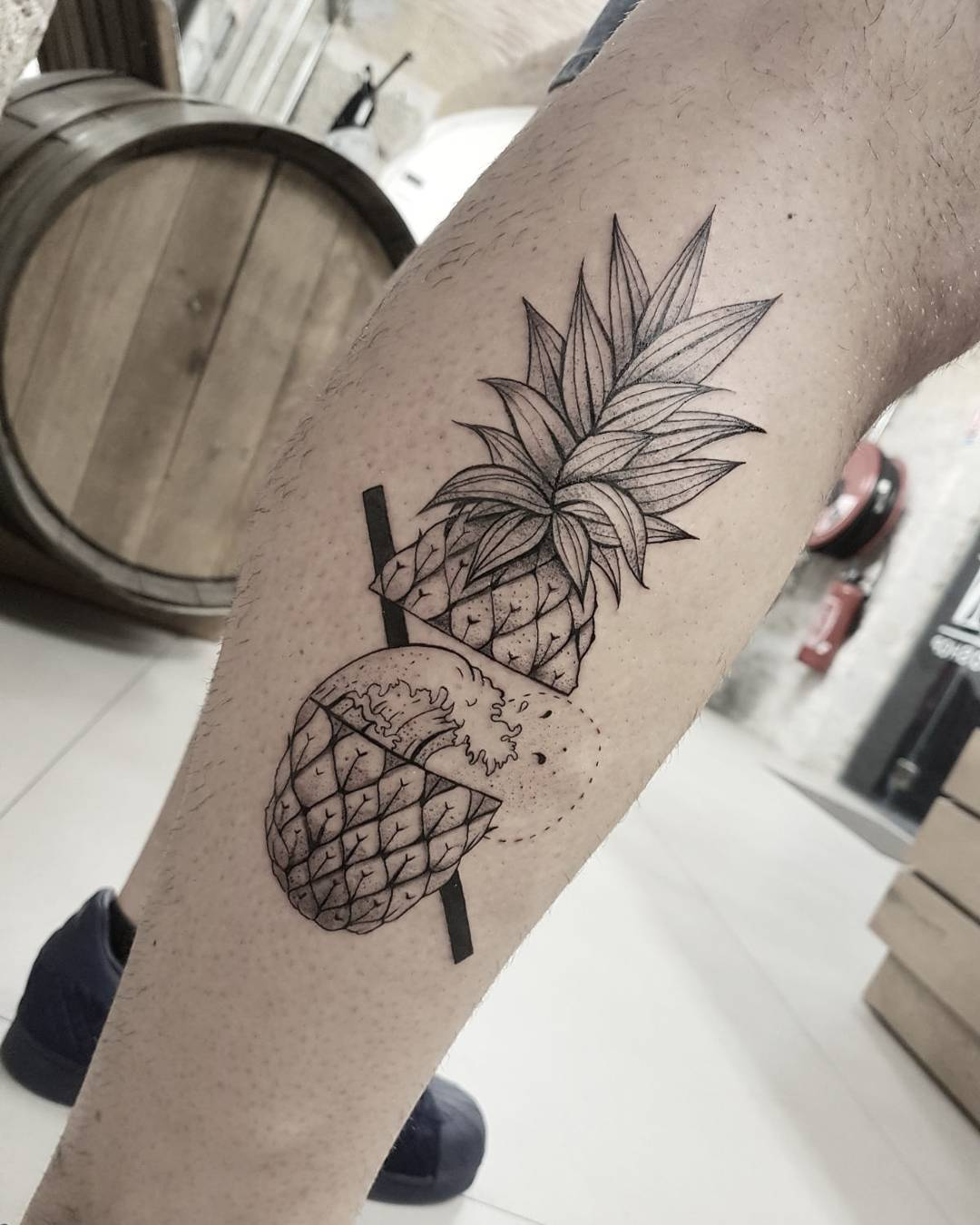 Pineapple Tattoo by Nëss Cerciello