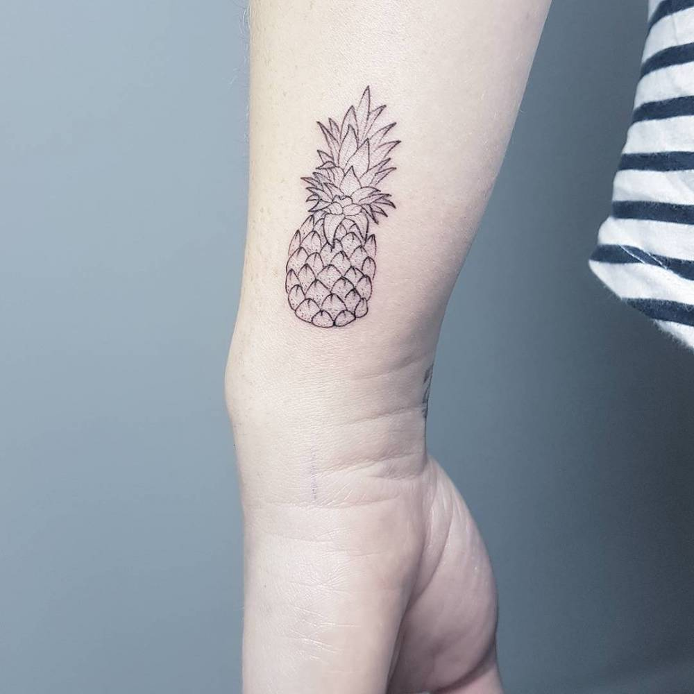 Pineapple Tattoo by Frauke Katze