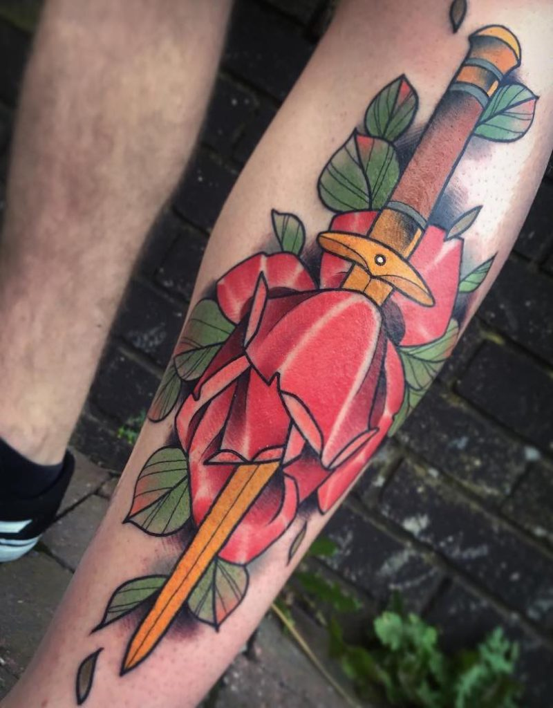 Dagger Tattoo by Paul Terry