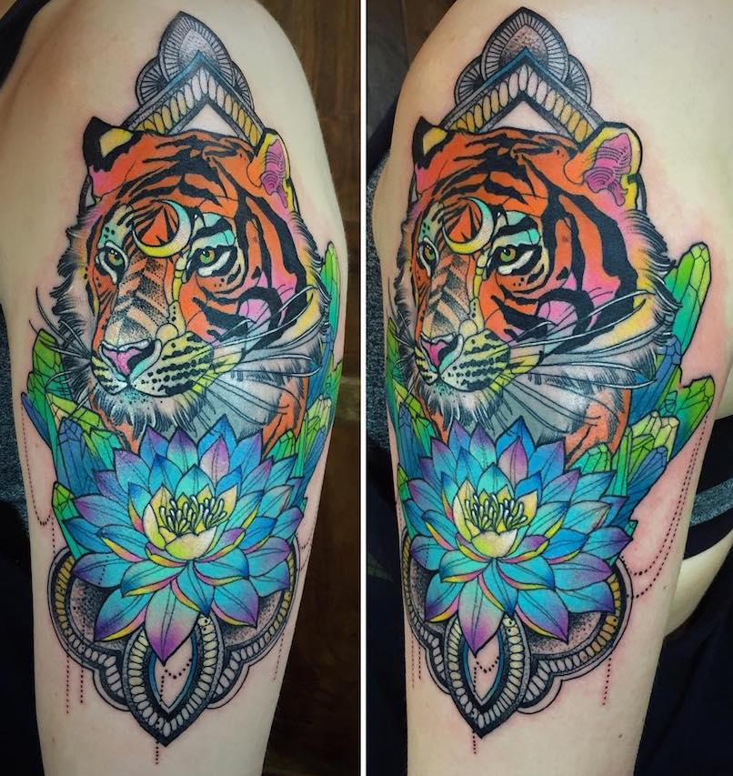 Katie Shocrylas Tiger Tattoo