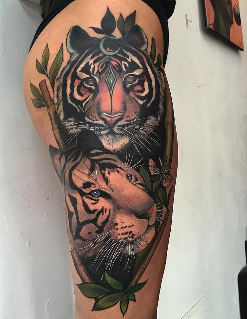 Miryam Lumpini tigers tattoo