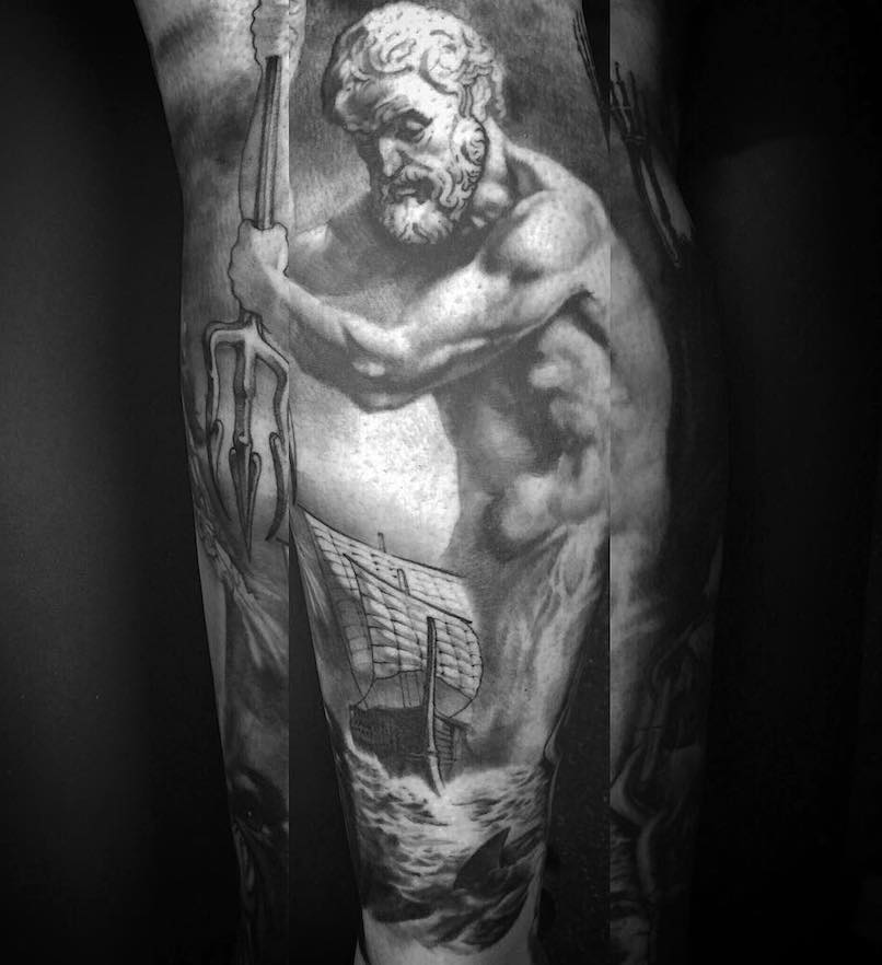 Poseidon Tattoo by Angus Wood