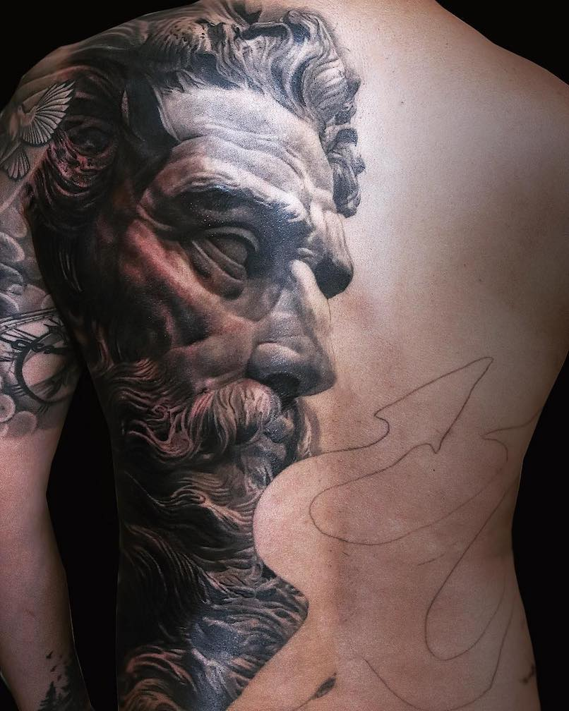 Poseidon tattoo by Npro