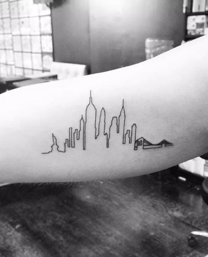 City tattoos tattoo insider for Minimalist tattoo nyc