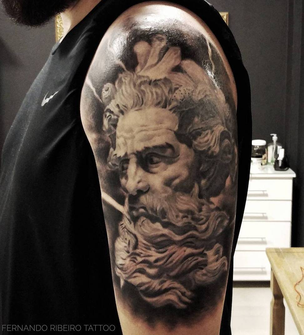 Poseidon tattoo by Fernando Ribeiro