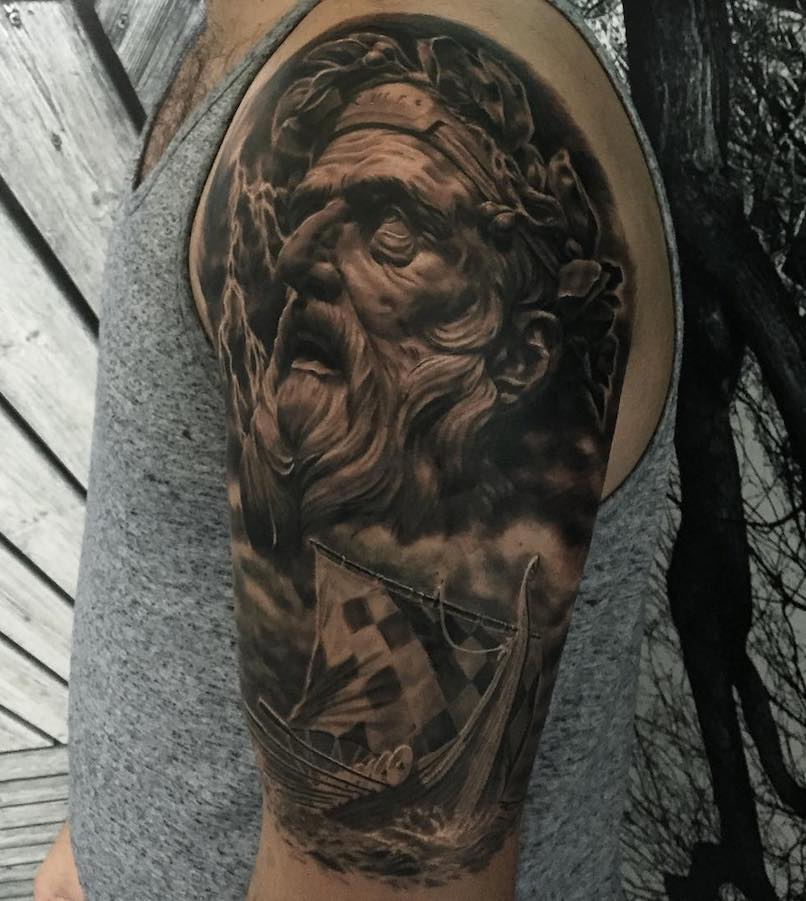 Poseidon tattoo by Nato
