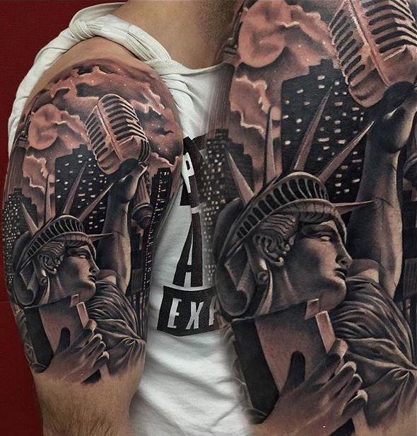 City tattoos tattoo insider for Statue of liberty tattoo