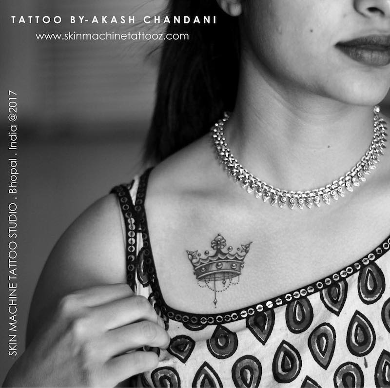 Akash Chandani Crown Tattoo
