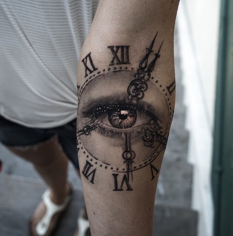 Clock Tattoo 2 by NIKI23GTR