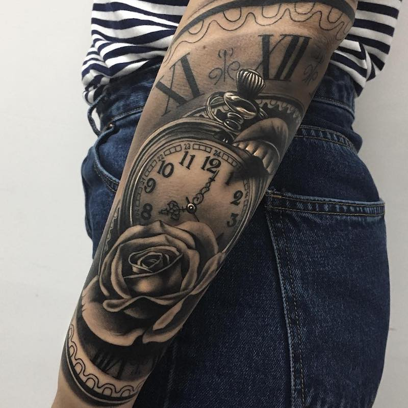 Clock Tattoo by Camacho Valencia