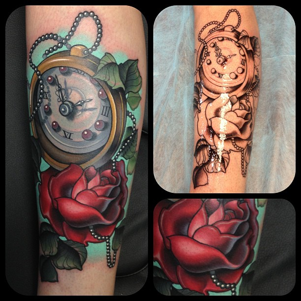 Clock Tattoo by Timmy B