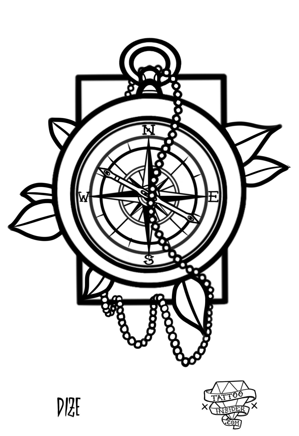 Compass Tattoo Design - Tattoo Insider