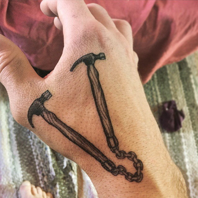 Hammer Tattoo by Andreas Engblom
