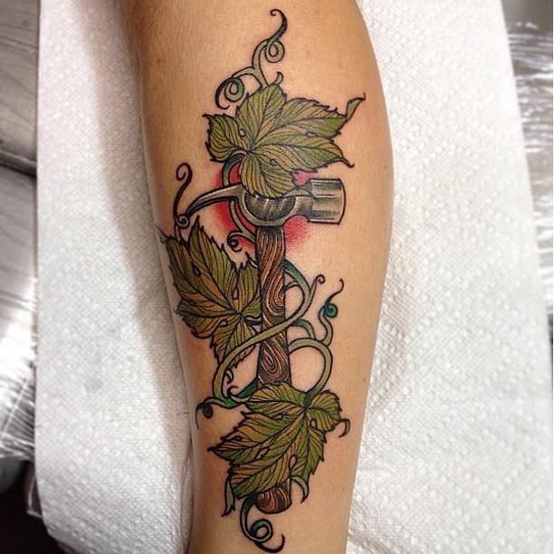 Hammer Tattoo by Isaac Bushkin
